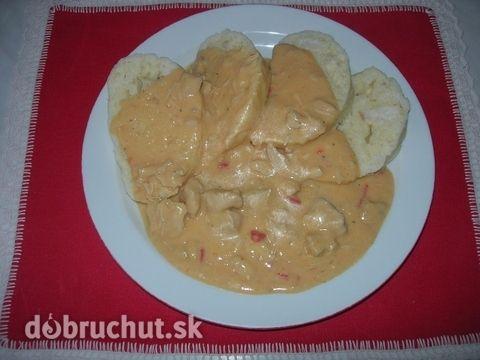 Fotorecept: Kuracie mäso na smotane - Vhodné ako hlavné jedlo pre dospelých aj malé deti.