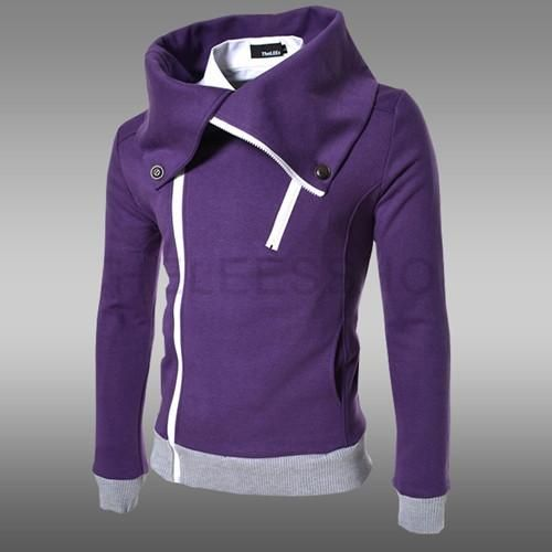 Men's Casual Leisure Hoody Fleece Sportswear Sweatshirt Jumper Jacket - 6 Colors-Men's Tops-Wickydeez