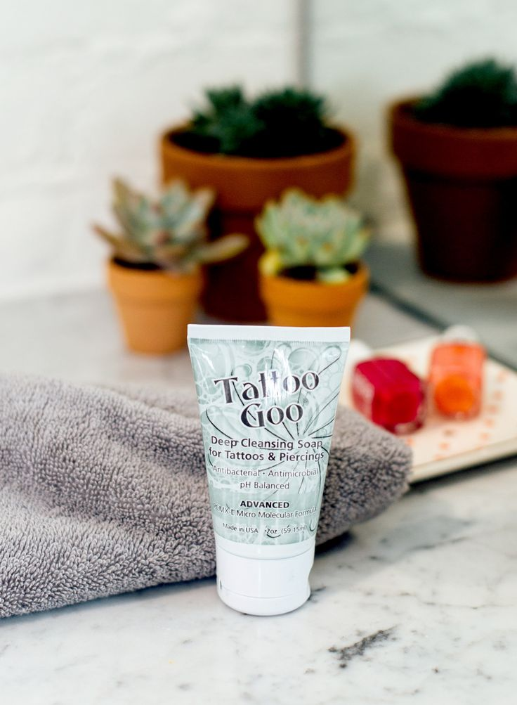 Our Tattoo Goo® Deep Cleansing Soap removes dead skin cells and killing bacteria without damaging the skin. Along with olive oil, this soap leaves skin feeling silky with no dry aftermath. Use with our Tattoo Goo® Lotion for the ultimate silky-skin result.