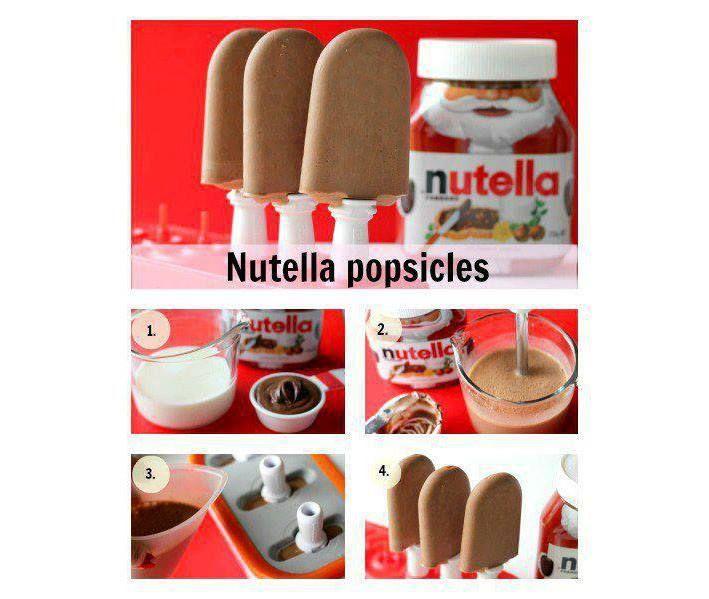 Helados de Nutella y Leche.