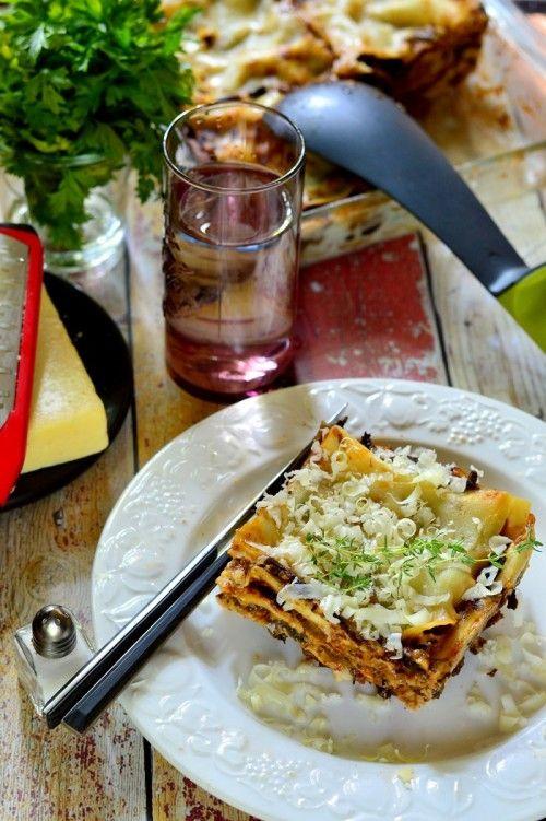 Gombás lasagne recept