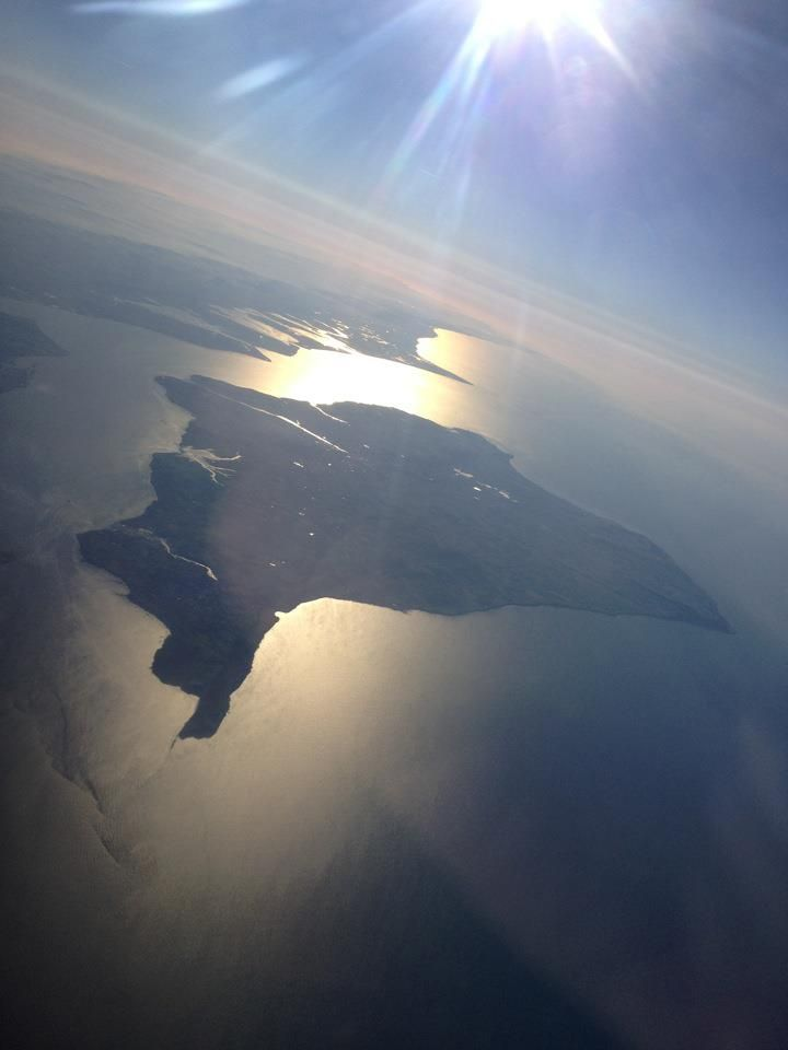 The Isle of Wight from the air - ahhh the motherland!