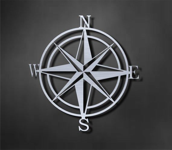 Nautical Compass Metal Compass Wall Decor In 2020 Windrose