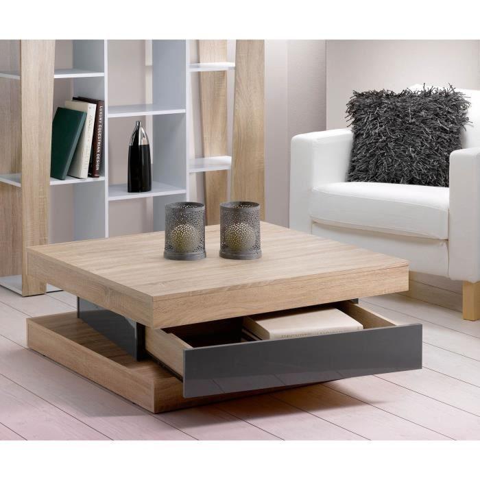 Les 25 meilleures id es concernant table basse bois clair - Meuble salon chene clair ...