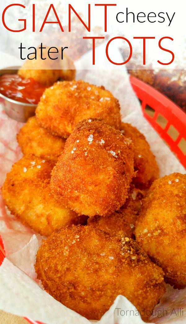 Giant Cheesy Tater Tots are a great way to bring you back to one of your favorite childhood foods!