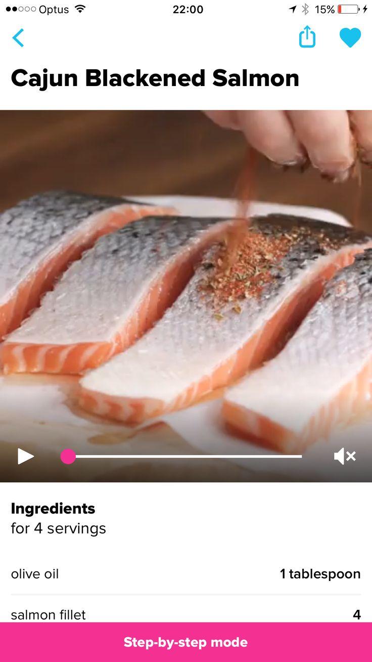 Cajun salmon   https://www.facebook.com/buzzfeedpropertasty/videos/1953087051570632