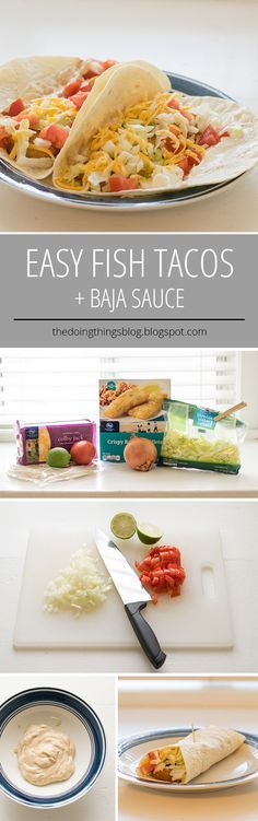 East Fish Tacos + Baja Sauce recipe from The Doing Things Blog