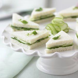 Cucumber-Watercress Tea Sandwiches