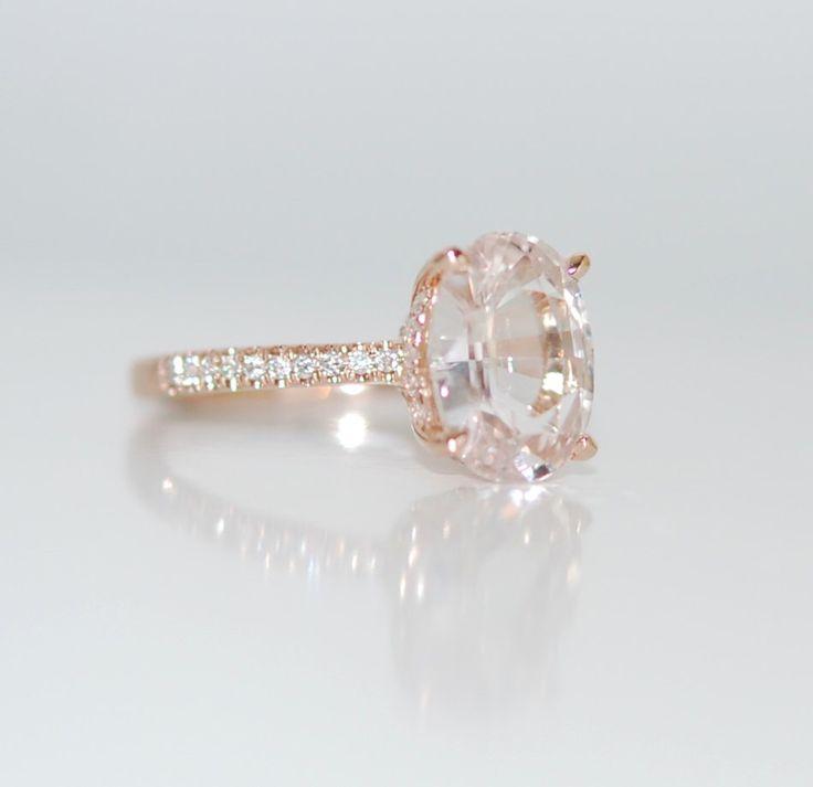 Blake Lively Ring weiß Saphir-Verlobungsring Oval geschnittenen 14k stieg gold Diamantring 3,02 ct weiß Saphir-ring von EidelPrecious auf Etsy https://www.etsy.com/de/listing/264565162/blake-lively-ring-weiss-saphir