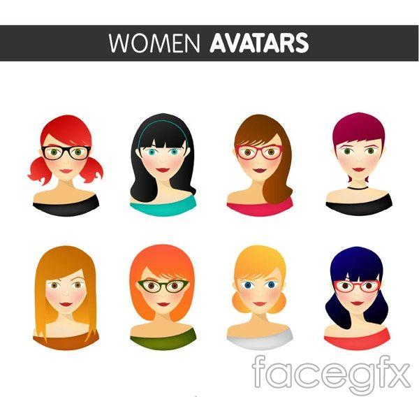 Fashion woman portrait vector