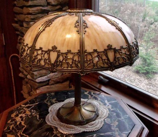 Victorian Slag Glass Lamp Base Slag Glass Light