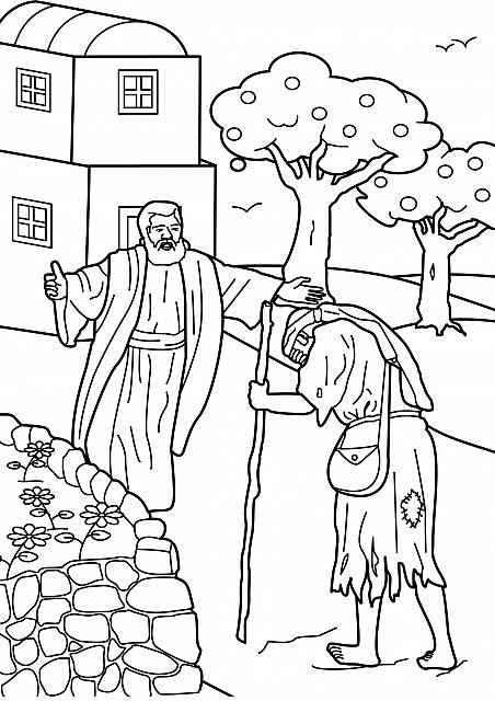 """Luke 15: Three Parables; """"Prodigal Son"""" Coloring Page"""