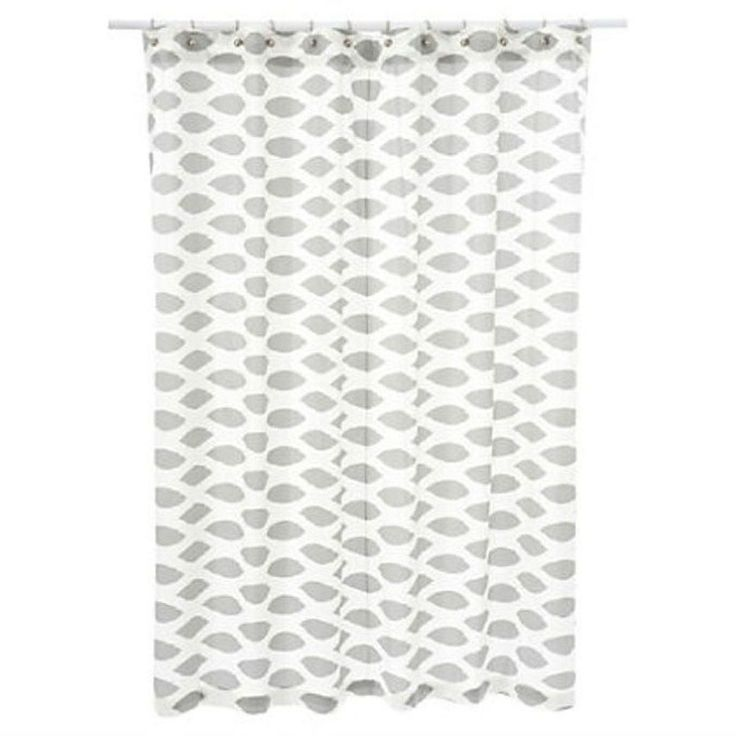 72 X Cardiff Shower Curtain Ikat Gray White 115