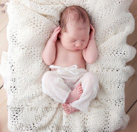 Knit baby pants Mohair Newborn baby pants Mohair by TreMelarance, €18.90