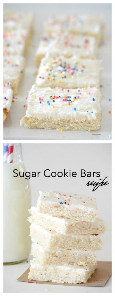 Recipes | Best Sugar Cookie Bars Recipe perfect for that family party. So much easier to make than rolled Sugar Cookies.