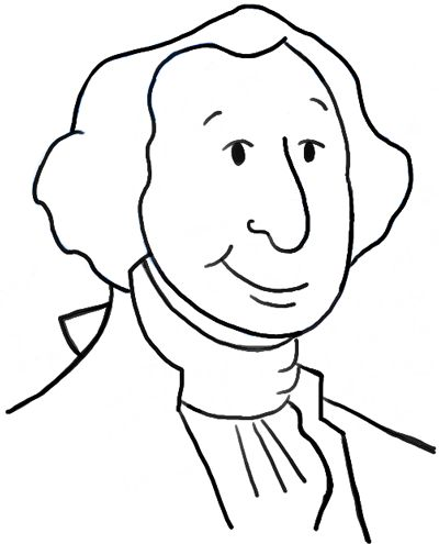 How To Draw Cartoon George Washington With Simple Step By Step