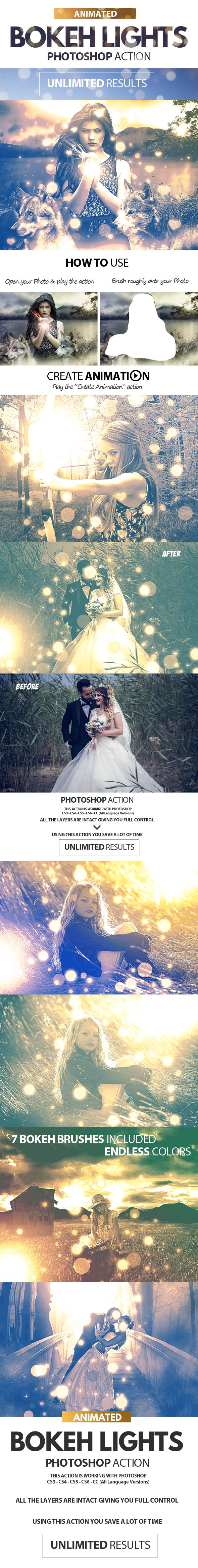 Animated Bokeh Lights Photoshop Action — Photoshop ATN #animated bokeh #bokeh photoshop • Download ➝ https://graphicriver.net/item/animated-bokeh-lights-photoshop-action/19894762?ref=pxcr