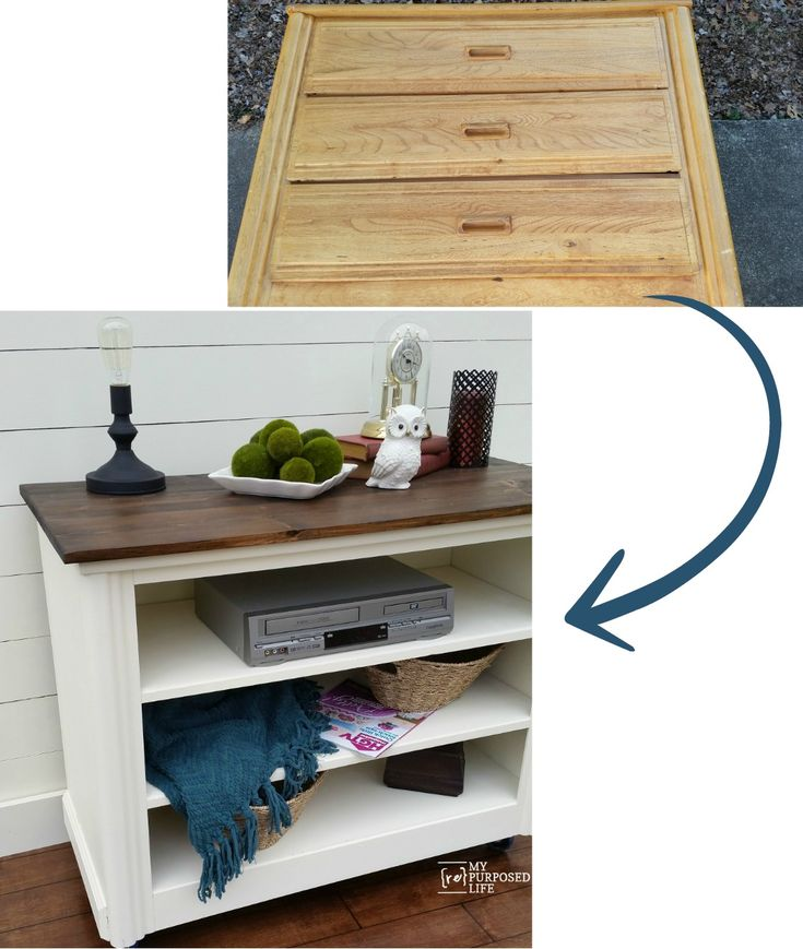 how to make dresser into tv stand