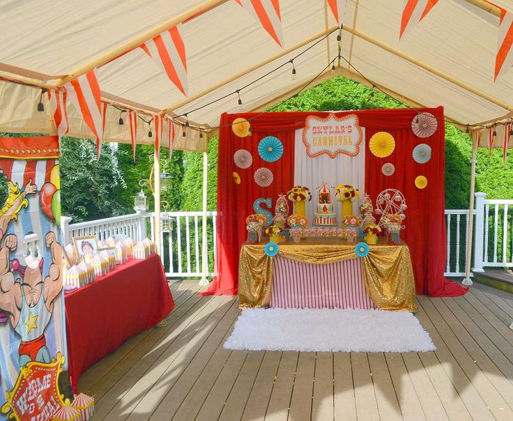 Carnival/ First Birthday Birthday Party Ideas   Photo 9 of 13   Catch My Party