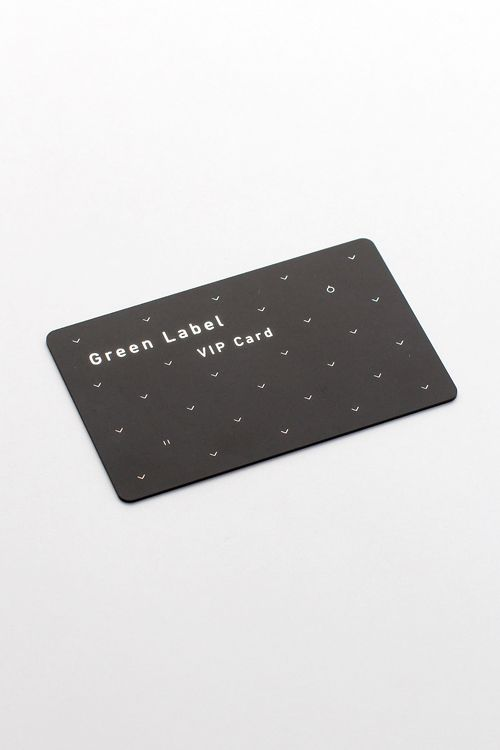 Green Label, VIP card, branding, pattern, typography