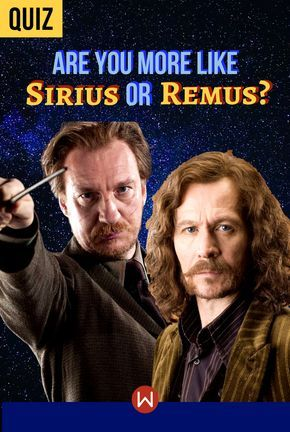 Quiz: Are You More Like Sirius or Remus? in 2019 | Potter
