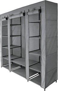 Praktische draagbare kledingkast grijsbeschermd uw kleding tegen stof en vuilde opvouwbare kast biedt veel bergruimte voor uw garderobe.materiaal:- gepoedercoat metaal- geweven stof: ademend, soepel en vochtbestendig (100% polyester)afmetingen:- hoogte: 175 cm - breedte: 150 cm - diepte: 45 cm- zwarte stang - ø 15mm- duurzame kunststof verbindingen- met kledingstang (zonder kleding en kledinghangers)- met kledingplanken- hoog draagvermogen (maximale belasting ca. 50 kg)- gewicht: ca. 4 kg…