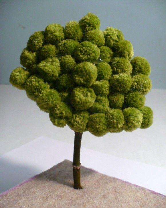 pom-pom tree- Árbol de pompones