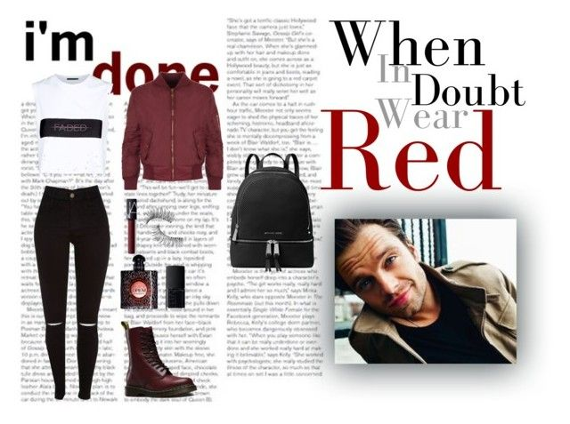 When In Doubt Wear Red by xo-nataliiee-xo on Polyvore featuring polyvore, fashion, style, Alexander Wang, WearAll, Dr. Martens, MICHAEL Michael Kors, NARS Cosmetics, Trish McEvoy, Yves Saint Laurent, Sebastian Professional and clothing