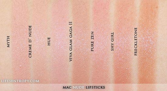 Myth Satin, Creme D Nude Cremesheen, Hue Glaze -7165