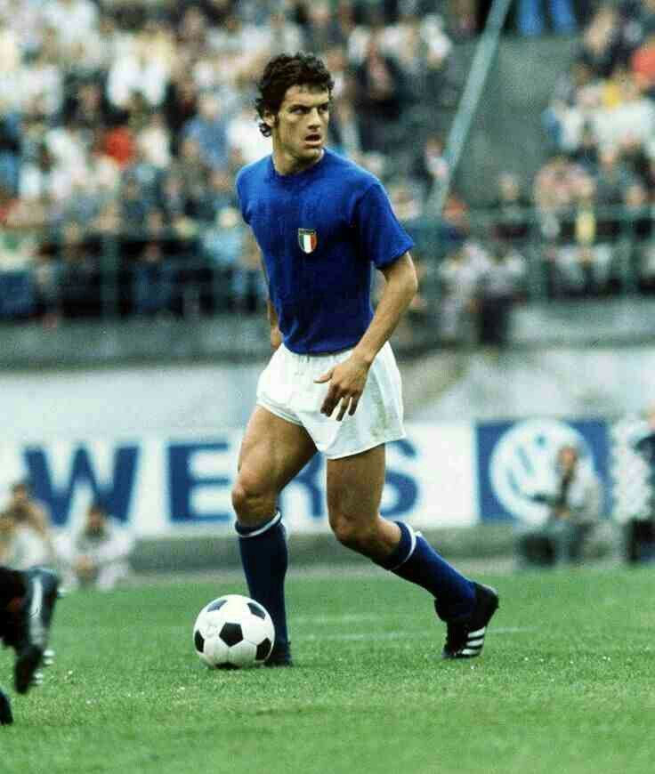 Fabio Capello of Italy in action at the 1974 World Cup Finals.