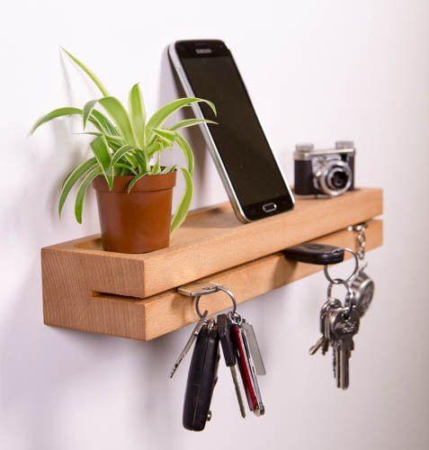 Schlüsselbretter & -kästen - Schlüsselbrett,Schlüsselleiste aus Buchenholz - ein Designerstück von ChKe88 bei DaWanda