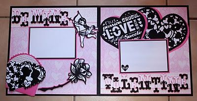 Check out this beautiful Valentine's Day layout made with the Cricut machine!: Scrapbook Layouts, 12X12 Double, Scrapbooking Valentine, Scrapbook Idea, Layout Faith, Cricut Layouts, Scrapbooking Ideas, Valentine Layout, Layout 12X12