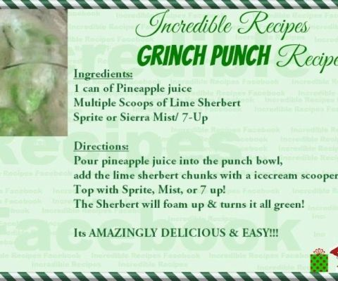 Christmas GRINCH PUNCH!