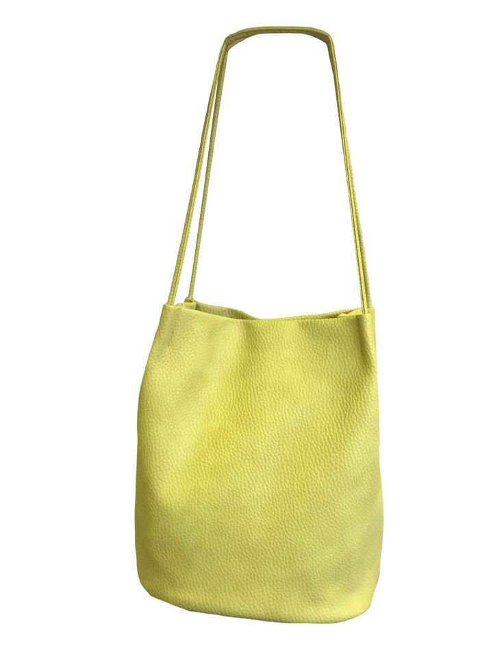 Hem&Edge large bucket bag with 2 handles #lime 100% synthetic 29hx26wx18d(at base)cm #gorgeousgreens #bag #accessories #onebutton #hemandedge Click here to see more products from the One Button shop.
