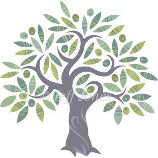 Olive Tree Stock logo Illustration Image