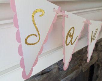 color de rosa y oro primer banner de cumpleaños por declanandsmith