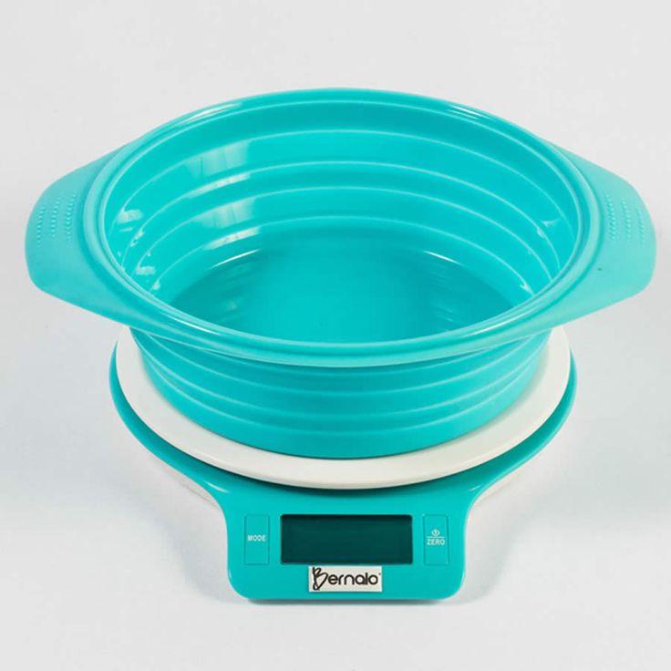$99.900 Balanza Digital de Cocina y Bowl de Silicona con Capacidad de 5Kg.