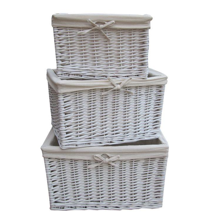 Rectangular Grey Buff Rattan Storage Baskets: 107 Best Storage Baskets Images On Pinterest