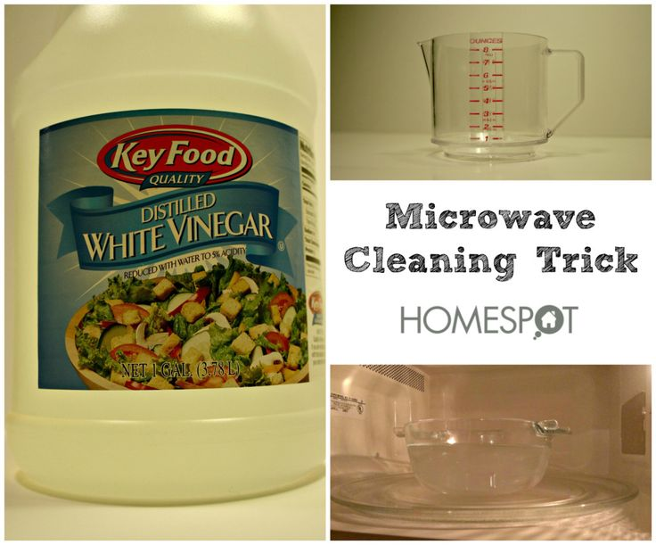 Remove burned on stains from a microwave with this simple trick.
