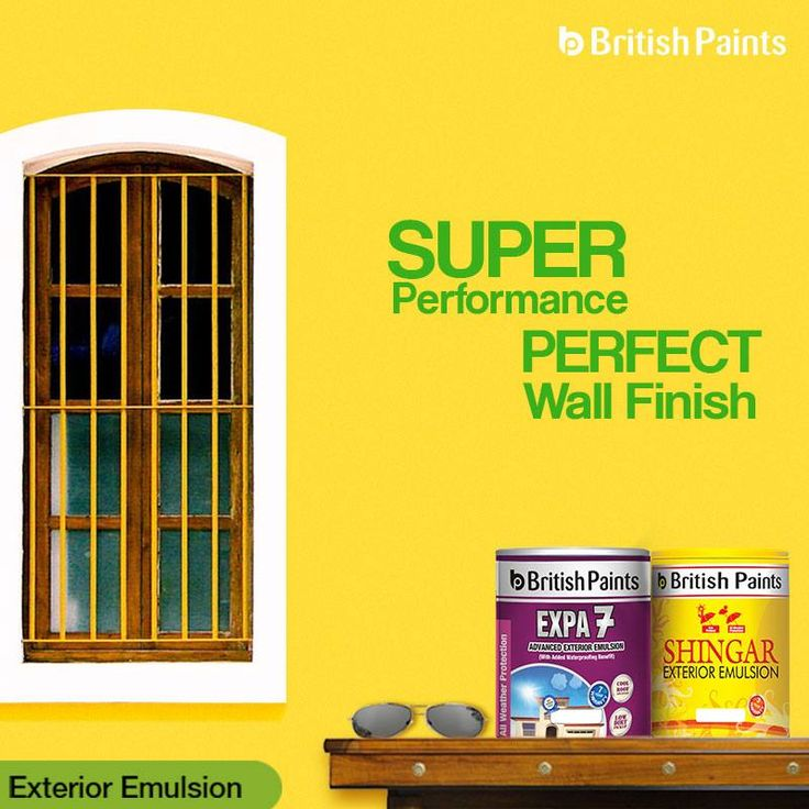 Let your walls do the talking with our fabulous exterior emulsions!