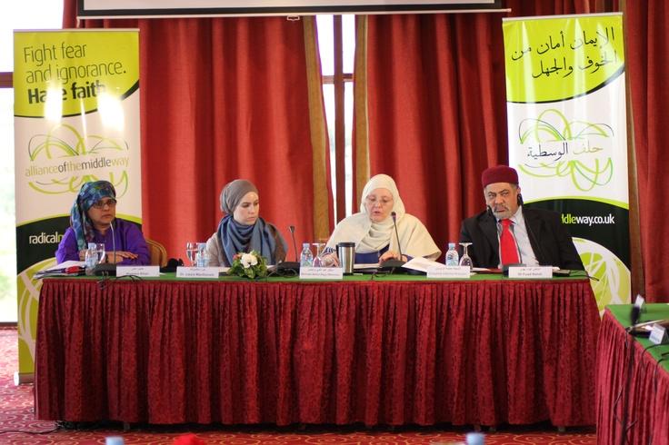 Humera Khan, Dr Laura McDonald, Shaykha Halima Krausen & Fuad Nahdi at Fez Summit