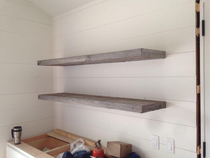 Reclaimed Barn Board Floating Shelves 1925workbench