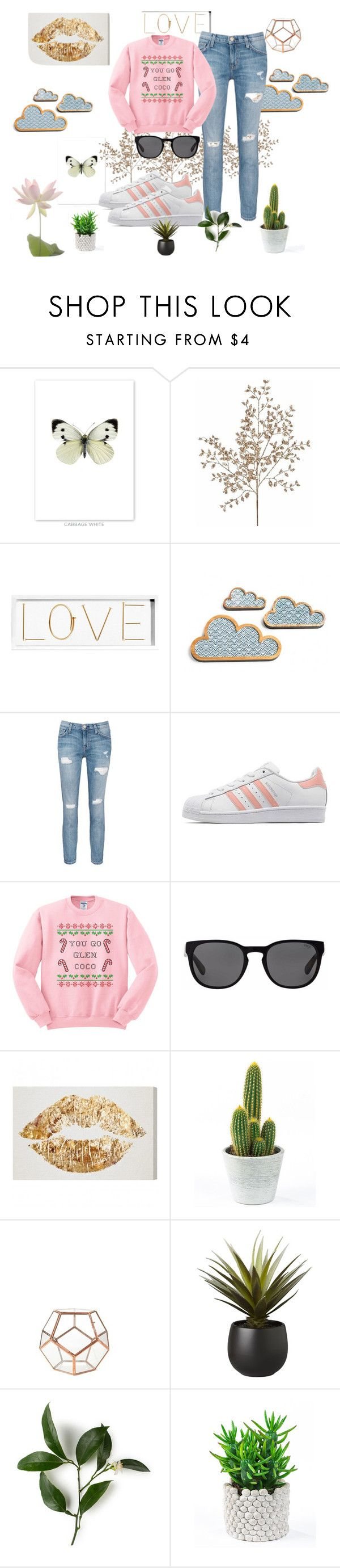 """""""http://www.polyvore.com/cgi/group.join?id=198631."""" by emina-h15 on Polyvore featuring Oliver Gal Artist Co., Current/Elliott, adidas Originals, Polo Ralph Lauren and CB2"""