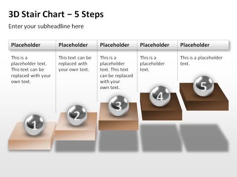 3D Step / Treppendiagramm. Mit Powerpoint erstellt