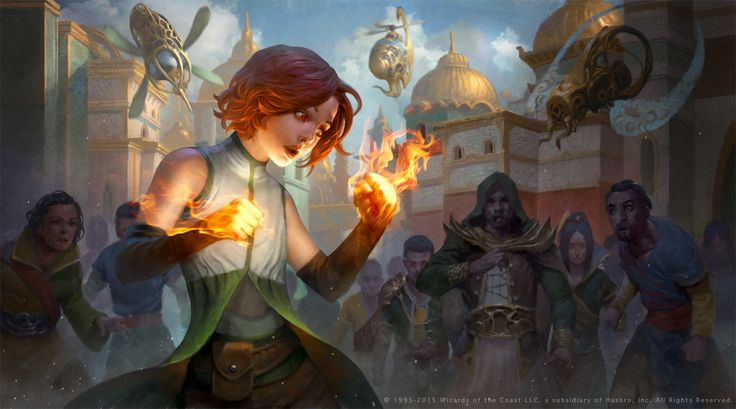 """Ah! Your h-hands! Your hands are- ...What is that stuff?! It's so hot!"" Chandra by LASAHIDO.deviantart.com on @DeviantArt"