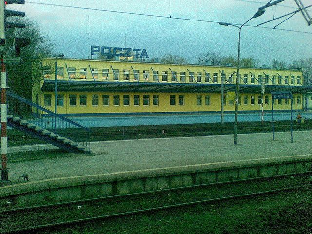 Koluszki- railway station with the Post Office  | Flickr - Photo Sharing!