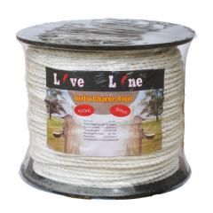 White Turbo Charge Electric Fencing Rope- 400m