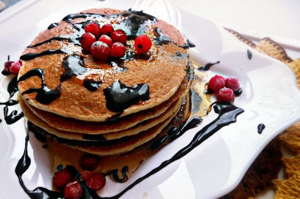Диетические панкейки без сахара с шоколадным соусом рецепт – низкокалорийная еда: завтраки. «Афиша-Еда»