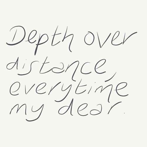 depth over distance