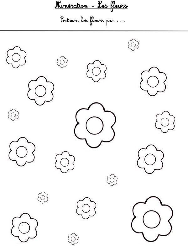 Num ration les fleurs fleurs printemps pinterest - Activite sur le printemps ...